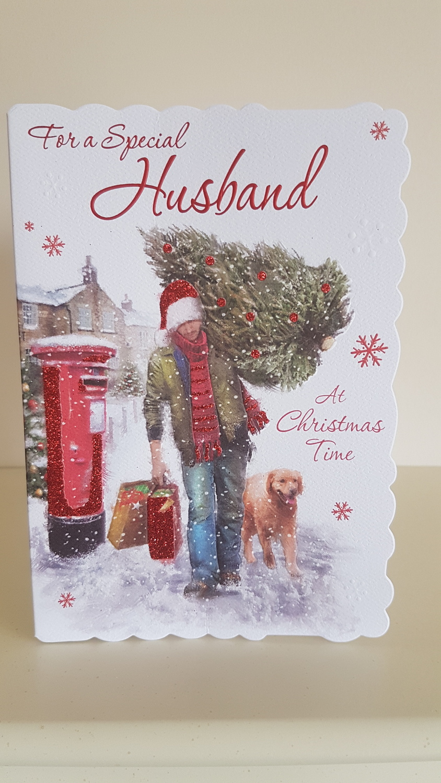 Husband Man Tree Christmas Card Remember That Card Greeting