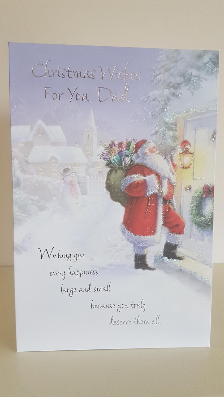 Dad Santa Winter Scene Christmas Card | Remember that card ...