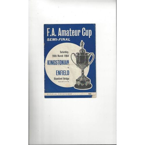 Amateur Cup Semi Final Football Programmes