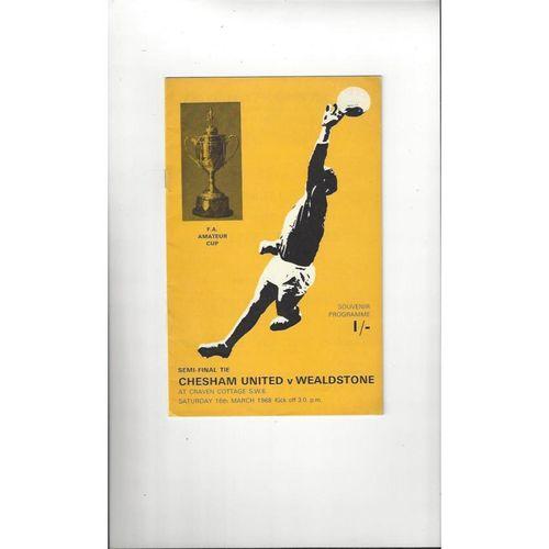 1967/68 Chesham United v Wealdstone Amateur Cup Semi Final Football Programme