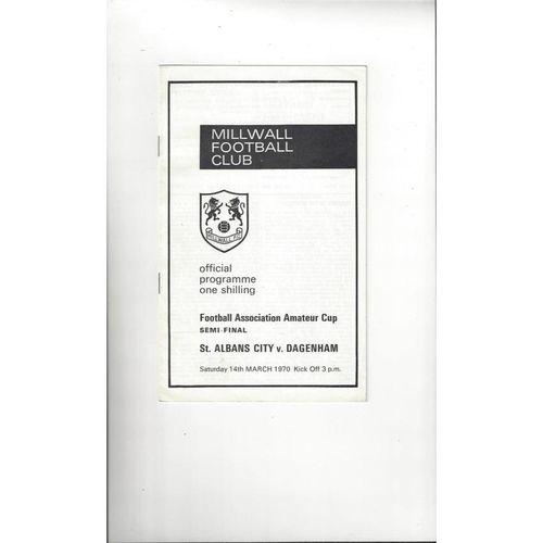 1969/70 St Albans City v Dagenham Amateur Cup Semi Final Football Programme