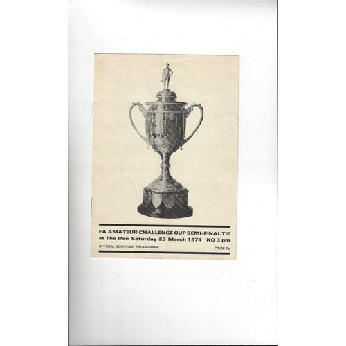 1973/74 Ilford v Leatherhead Amateur Cup Semi Final Football Programme