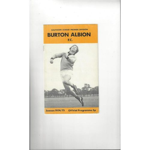 1974/75 Burton Albion v Matlock Town Trophy Semi Final Football Programme
