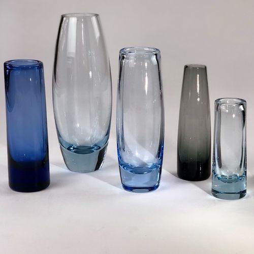 Signed Holmegaard Mid 20th Century vases