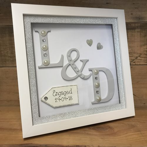 initials engagement frame