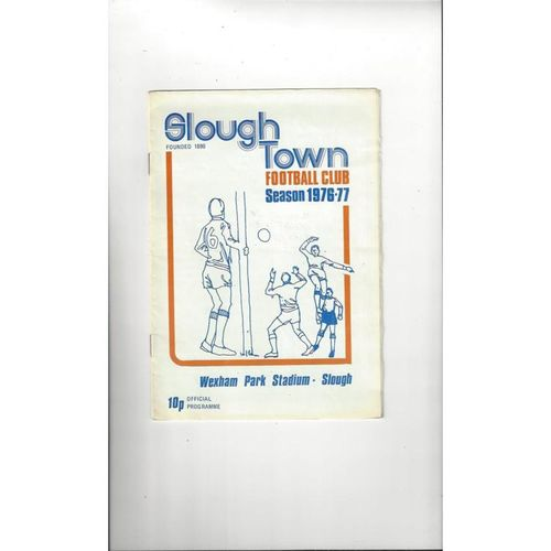1976/77 Slough Town v Dagenham Trophy Semi Final Football Programme