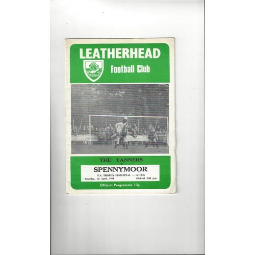 1977/78 Leatherhead v Spennymoor Trophy Semi Final Football Programme