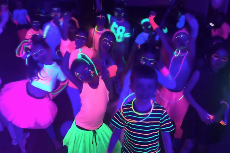 UV Neon Kids Disco Party with Games