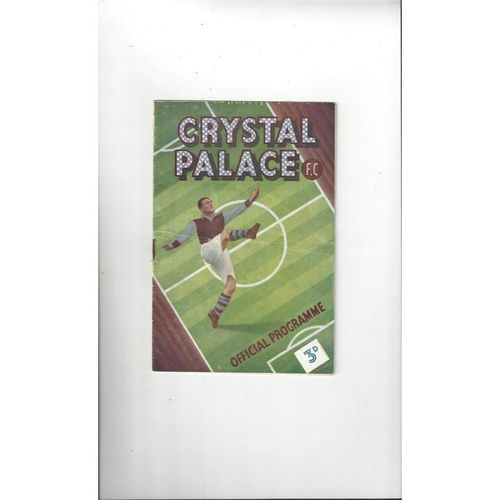 1949/50 Crystal Palace v Watford Football Programme