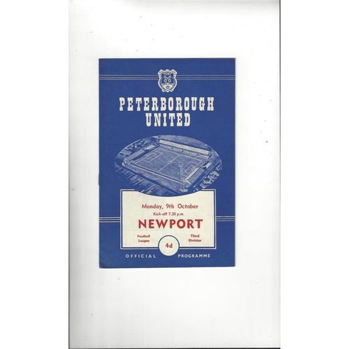 1961/62 Peterborough United v Newport Football Programme