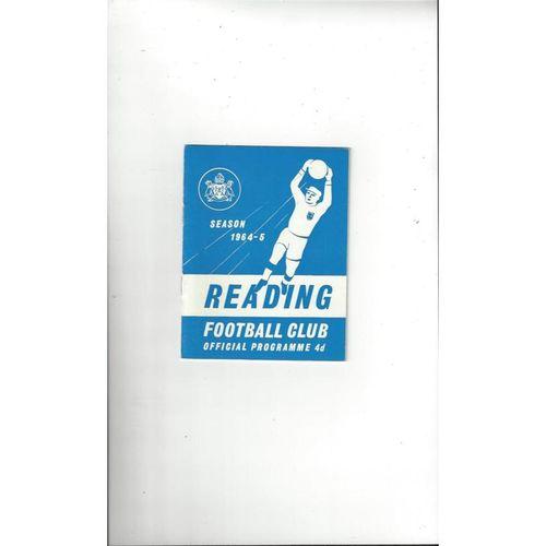 1964/65 Reading v Carlisle United Football Programme