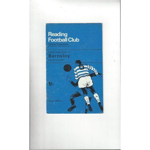 1969/70 Reading v Barnsley Football Programme