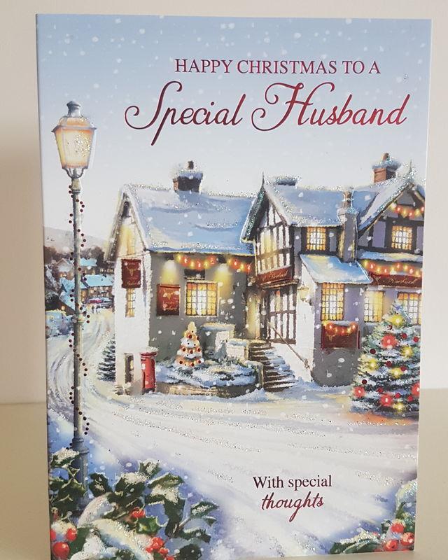 Husband Winter Street Scene Christmas Card   Remember that card ...
