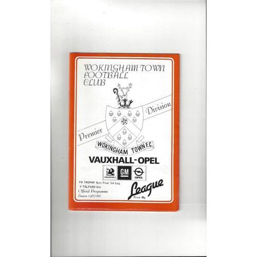 1987/88 Wokingham Town v Telford United Trophy Semi Final Football Programme