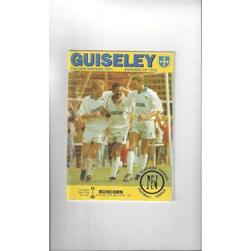 1993/94 Guiseley v Runcorn Trophy Semi Final Football Programme