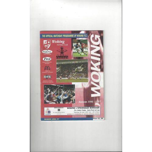1996/97 Woking v Stevenage Borough Trophy Semi Final Football Programme
