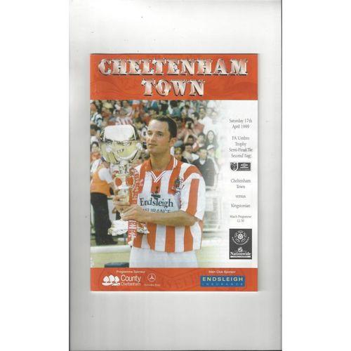 1998/99 Cheltenham Town v Kingstonian Trophy Semi Final Football Programme