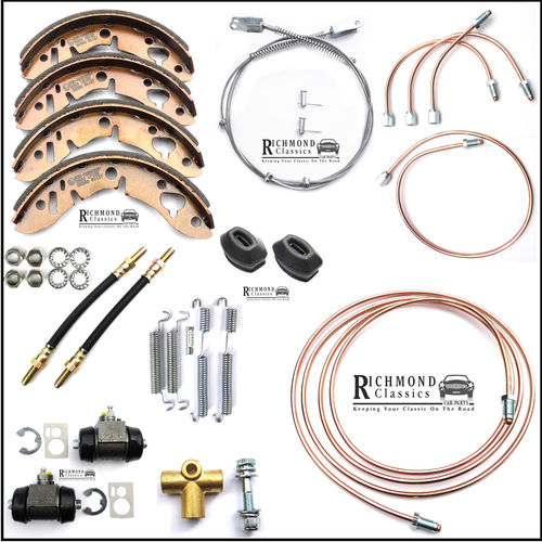 Classic Mini Rear Brakes Service Kit, Flexis, Cylinders, Shoes - All Models