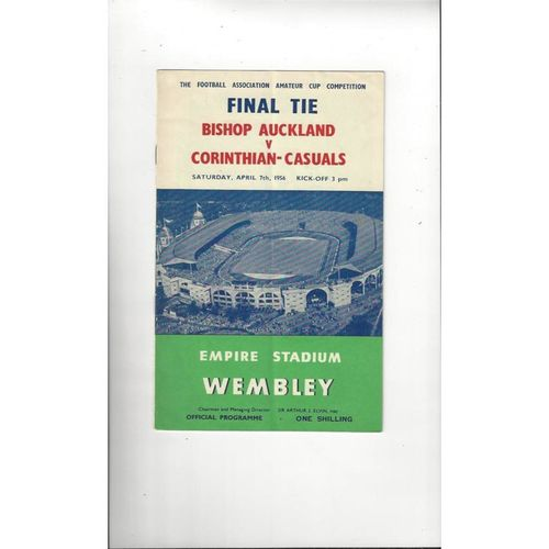 1956 Bishop Auckland v Corinthian Casual Amateur Cup Final Football Programme