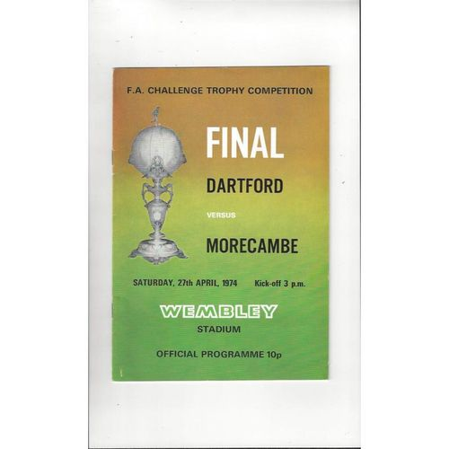 Trophy Final Football Programmes