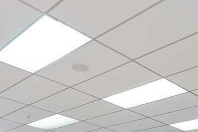 clean white ceiling tiles acoustic wipeable renew refurbishment school office rooms