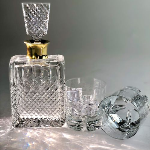 Mid 20th Century crystal decanter attributed to St Louis