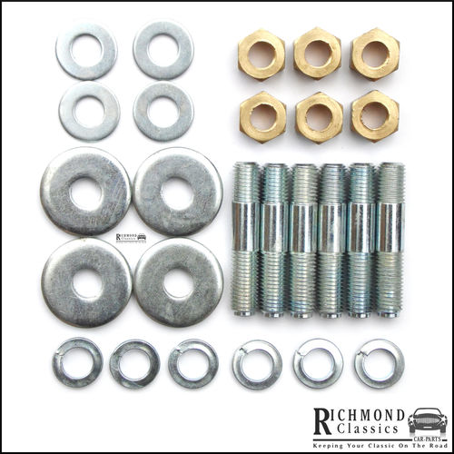 Early MG Midget, Healey Sprite Exhaust Manifold Studs, Nuts and Washers Kit