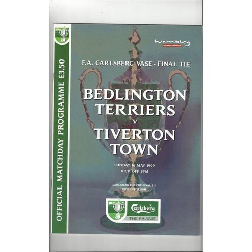 1999 Bedlington Terriers v Tiverton Town FA Vase Final Football Programme