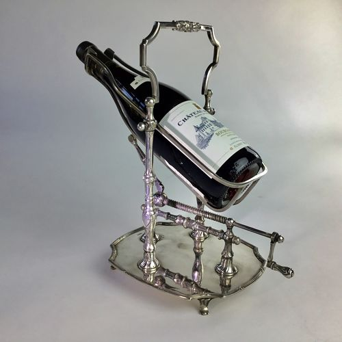 Silver plated mechanical wine pourer by Wiskemann