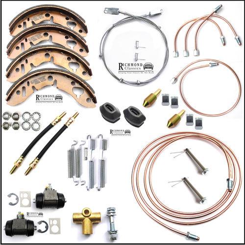Classic Mini Rear Subframe Comprehensive Rear Brake Pipe and Parts Kit
