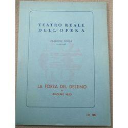 Opera programme 1944-1945 Verdi La Forza Del Destino