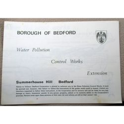 Summerhouse Hill Bedford 1972 Guide Water Control Works Extension
