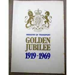 Ministry of Transport Golden Jubilee 1969 Leaflet