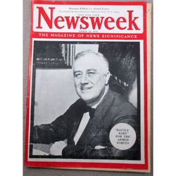 Roosevelt Death Newsweek US Armed Forces April 23rd 1945