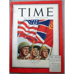 Victory in Europe US Armed Forces Edition Time May 14 1945