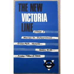 New Victoria Line March 1969 London Underground Leaflet