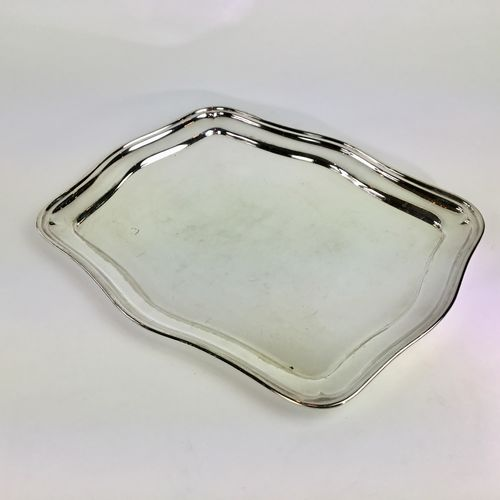Silver plated drinks tray signed Wiskemann