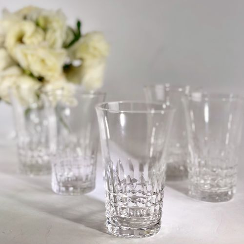 5 beautiful crystal tumblers by Val Saint Lambert