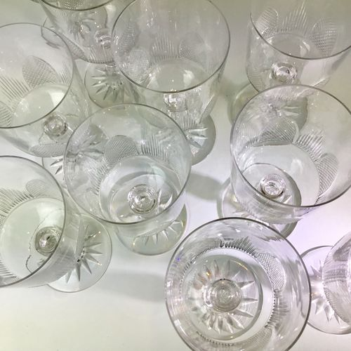 Early 20th Century Baccarat crystal wine glasses