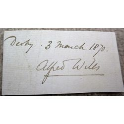 Sir Alfred Wills Signature Clip 1870