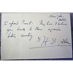 Sir Hugh Percy Allen Musician Conductor Signed 1938 Postcard
