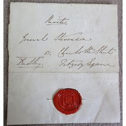 William Ward, 1st Earl of Dudley Signed Envelope and Seal