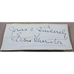 Edna Thornton Opera Contralto Signed Letter Clip