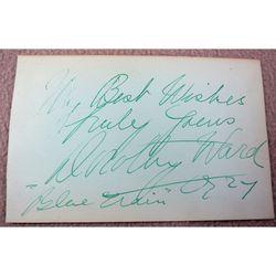 Dorothy Ward (1890-1987) Actress 1927 Autograph