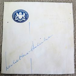 Leslie Hore-Belisha, Secretary of State for War Autograph