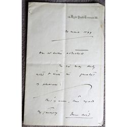 Sir John Aird 1st Baronet 1833 -1911 Engineer MP Mayor Art Collector 1899 Letter
