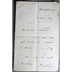 Sir John Aird 1st Baronet 1833 -1911 Engineer MP Mayor Art Collector 1899 Letter