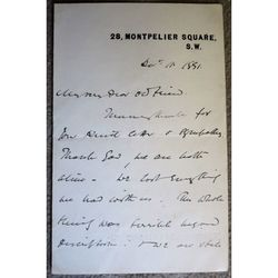 "T Teignmouth-Shore Canon of Worcester Signed 1891 Letter ""We are both alive"""