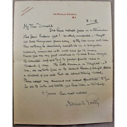 Sir Kenneth Weldon Goadby 1918 Signed Letter, Dentist Industrial Poisoning Specialist