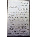 Reverend P Fraser letter (c 1830-40)